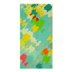 Smudged Shapes	shower Curtain 36  X 72  by LalyLauraFLM
