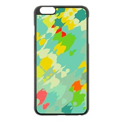 Smudged Shapes Apple Iphone 6 Plus Black Enamel Case by LalyLauraFLM