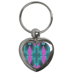 Tribal Purple Rhombus Key Chain (heart) by LalyLauraFLM