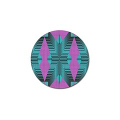 Tribal Purple Rhombus Golf Ball Marker (4 Pack) by LalyLauraFLM