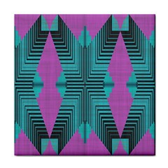 Tribal Purple Rhombus Face Towel by LalyLauraFLM