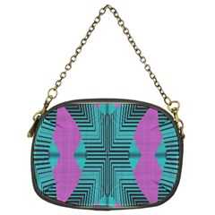 Tribal Purple Rhombus Chain Purse (two Sides) by LalyLauraFLM