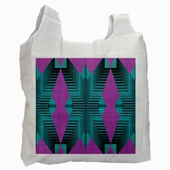 Tribal Purple Rhombus Recycle Bag (one Side) by LalyLauraFLM