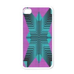 Tribal Purple Rhombus Apple Iphone 4 Case (white) by LalyLauraFLM