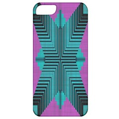 Tribal Purple Rhombus Apple Iphone 5 Classic Hardshell Case by LalyLauraFLM
