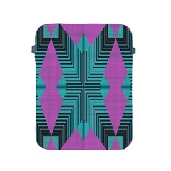 Tribal Purple Rhombus Apple Ipad 2/3/4 Protective Soft Case by LalyLauraFLM