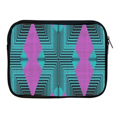 Tribal Purple Rhombus Apple Ipad 2/3/4 Zipper Case by LalyLauraFLM
