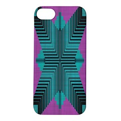 Tribal Purple Rhombus Apple Iphone 5s Hardshell Case by LalyLauraFLM