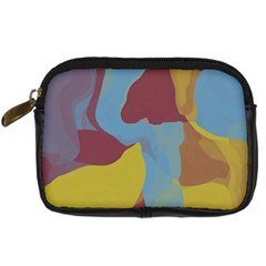 Watercolors Digital Camera Leather Case