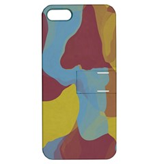 Watercolors Apple Iphone 5 Hardshell Case With Stand by LalyLauraFLM