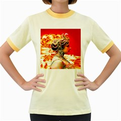 Mata Hari Women s Fitted Ringer T-shirt by icarusismartdesigns