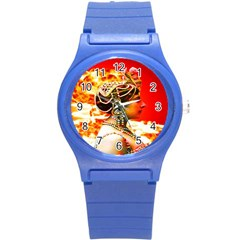 Mata Hari Round Plastic Sport Watch Small by icarusismartdesigns