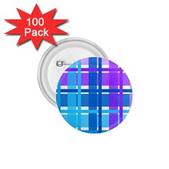 Blue & Purple Gingham Plaid 1 75  Button (100 Pack) by StuffOrSomething