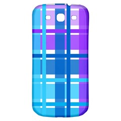 Blue & Purple Gingham Plaid Samsung Galaxy S3 S Iii Classic Hardshell Back Case by StuffOrSomething