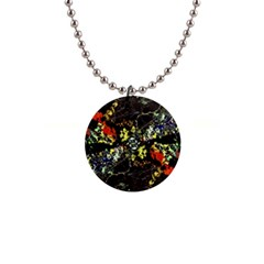 Floral Collage Print Button Necklace by dflcprintsclothing