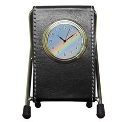 Rainbow Stationery Holder Clock