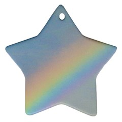 Rainbow Star Ornament (two Sides)