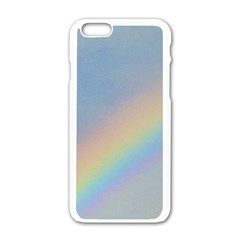 Rainbow Apple Iphone 6 White Enamel Case by yoursparklingshop
