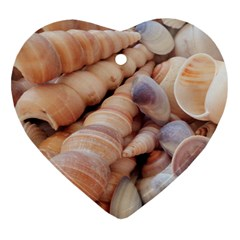 Seashells 3000 4000 Heart Ornament (two Sides) by yoursparklingshop