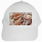 Sea Shells White Baseball Cap Front