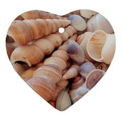 Sea Shells Heart Ornament by yoursparklingshop
