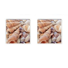 Sea Shells Cufflinks (square) by yoursparklingshop