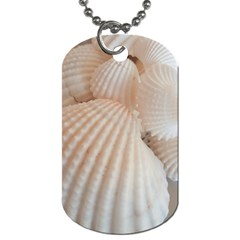 Sunny White Seashells Dog Tag (one Sided) by yoursparklingshop