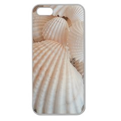 Sunny White Seashells Apple Seamless Iphone 5 Case (clear) by yoursparklingshop