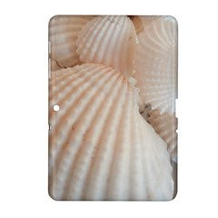 Sunny White Seashells Samsung Galaxy Tab 2 (10 1 ) P5100 Hardshell Case  by yoursparklingshop