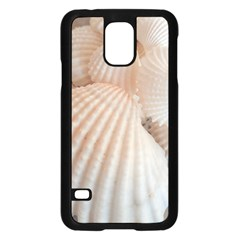 Sunny White Seashells Samsung Galaxy S5 Case (black) by yoursparklingshop