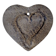Heart In The Sand Heart Ornament by yoursparklingshop