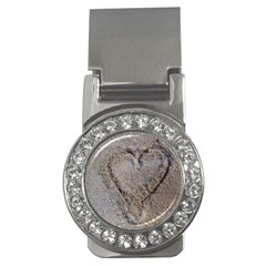 Heart In The Sand Money Clip (cz)