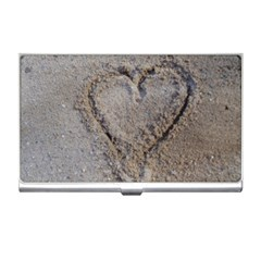 Heart In The Sand Business Card Holder by yoursparklingshop