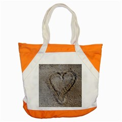 Heart In The Sand Accent Tote Bag by yoursparklingshop