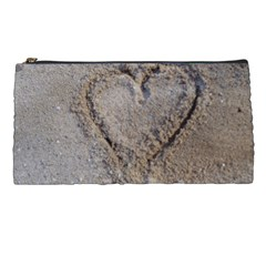 Heart In The Sand Pencil Case