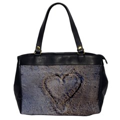 Heart In The Sand Oversize Office Handbag (one Side)