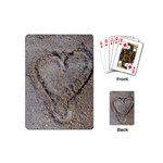 Heart in the sand Playing Cards (Mini) Back