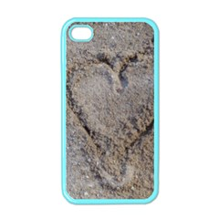 Heart In The Sand Apple Iphone 4 Case (color)