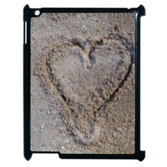 Heart In The Sand Apple Ipad 2 Case (black)