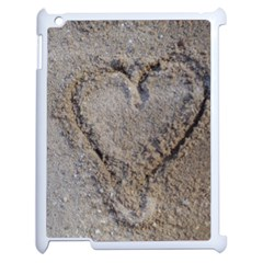 Heart In The Sand Apple Ipad 2 Case (white) by yoursparklingshop
