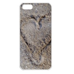 Heart In The Sand Apple Iphone 5 Seamless Case (white)