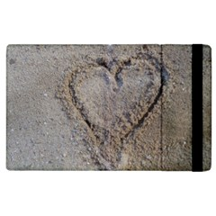 Heart In The Sand Apple Ipad 2 Flip Case by yoursparklingshop