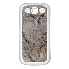 Heart In The Sand Samsung Galaxy S3 Back Case (white) by yoursparklingshop