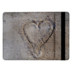 Heart In The Sand Samsung Galaxy Tab Pro 12 2  Flip Case by yoursparklingshop
