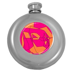 Red Orange 5000 Hip Flask (round) by yoursparklingshop
