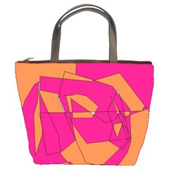 Red Orange 5000 Bucket Handbag by yoursparklingshop