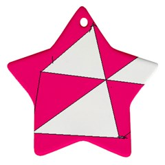 Pink White Art Kids 7000 Star Ornament (two Sides) by yoursparklingshop