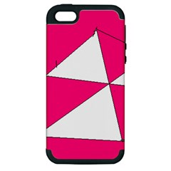 Pink White Art Kids 7000 Apple Iphone 5 Hardshell Case (pc+silicone)