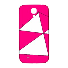 Pink White Art Kids 7000 Samsung Galaxy S4 I9500/i9505  Hardshell Back Case by yoursparklingshop
