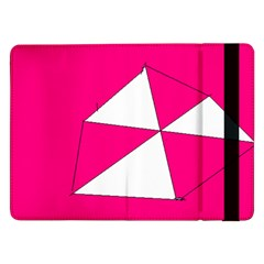 Pink White Art Kids 7000 Samsung Galaxy Tab Pro 12 2  Flip Case by yoursparklingshop